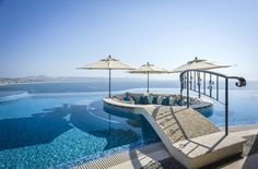"""Casa Fryzer Featured in Wall Street Journal - """"Los Cabos Home With Elaborate Pool Lists for $25 Million - Measuring roughly 2,000 square feet, the infinity pool includes a swim-up bar, built-in tables and a fire-pit island accessed by a bridge."""" #SnellRealEstate"""