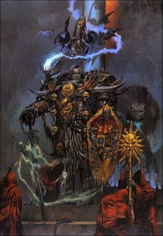 """omercifulheaves: """" Art by Adrian Smith Been a while since I posted some Warhammer stuff… """""""