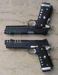 Punisher Pistols #awesome #wicked #cool #exotic #fire #weapons #gun #guns #pistol #2ndammendment #rights #protection #defense