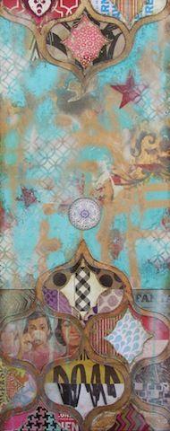 Jill Ricci Oh Dear! Mixed Media on Canvas, 16 x 30