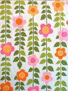 Vintage Fabric // Flower Power
