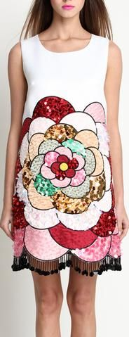 Embellished Silk Tank-Dress *Limited Stock*