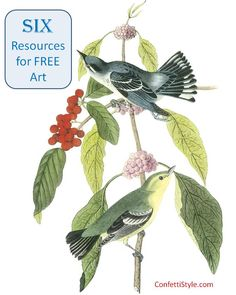 Here are SIX great resources for free (and beautiful) artwork
