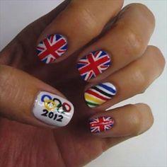 2012 Olympic nails #olympics #nails
