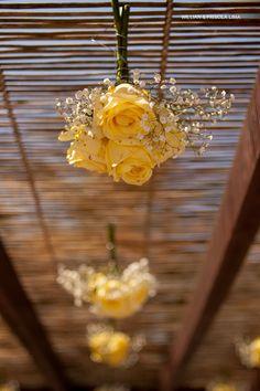 Decoração Amarela para Casamento na Praia do Guarujá.