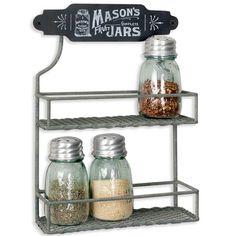 Corner Store...Mason Jars spice rack