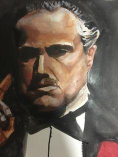 Oil painting drawing yağlıboya akrilik boya the godfather resim tablo çizim