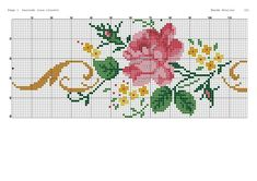 Cross Stitch Rose, Cross Stitch Flowers, Little Designs, Bargello, Rose Bouquet, Diy And Crafts, Embroidery, Couture, Crochet