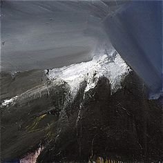 Ørnulf Opdahl: Nysnø, 80 x 80 cm Abstract Landscape, Landscape Paintings, Different Kinds Of Art, Art Images, Painting & Drawing, Waterfall, Indie, Waves, Drawings