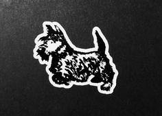 A personal favourite from my Etsy shop https://www.etsy.com/uk/listing/575618599/scottie-dog-vinyl-stickers-envelope