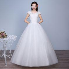 Wedding dress 2017 new shoulder Qi large yards lace fashion elegant thin wedding dress
