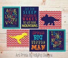 Boys room art Dinosaur bedroom decor Dream Big by HollyPopDesigns