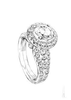 Wedding Ring Illustration on Behance