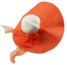 Kaisifei Bowknot Casual Straw Women Summer Hats Big Wide Brim Beach Hat (Orange) Kaisifei http://www.amazon.com/dp/B00ZACF9MW/ref=cm_sw_r_pi_dp_P6hOvb0A7M33W