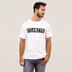 #TeamZyre Black & White T-Shirt - black and white gifts unique special b&w style