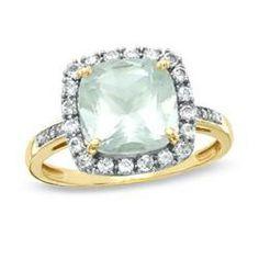 Green quartz ring, mine