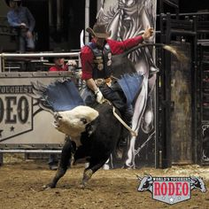 Dusty Elkington at World's Toughest Rodeo in St. Paul, Minnesota