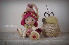 Ours de collection en laine feutrée au par LesVendredisDeNath