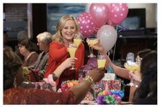 Monday's the day to celebrate the best unofficial holiday made just for women: Galentine's Day. And for that, we thank our lady of Parks and Recreation, Leslie Knope. Parks And Recreation, Parks N Rec, Leslie Knope, Happy Galentines Day, Female Friendship, Hobbies To Try, Girly, Gal Pal, Our Lady