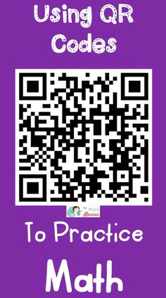 QR codes can help move routine math practice to a fun, engaging and active experience. Teaching Technology, Teaching Math, Teaching Tools, Teaching Ideas, Math Resources, Math Activities, Learning Stations, Math Practices, Math Workshop