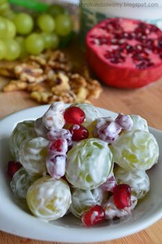 The Fat Lady: Creamy Grape and pomegranate salad
