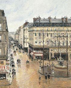 Rue-Saint-Honoreacute-por-la-tarde-Efecto-de-lluvia