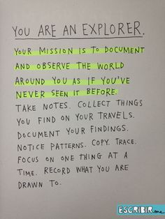 how-to-be-an-explorer-of-the-world-mission