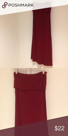 Burgundy maxi skirt 100% rayon. No trades. Casa Lee Skirts Maxi