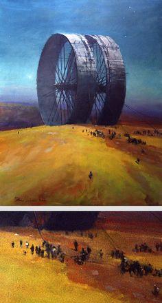 Official website of John Harris: landscape, science fiction and marine artist