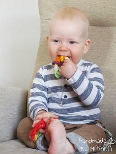 Organic wooden teething ring baby teething toy by ByMarika