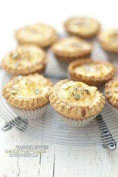 celeriac-gorgonzOla mini tartelettes