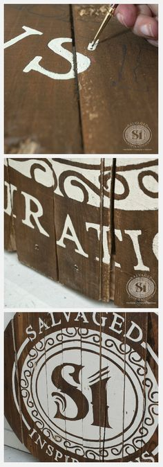 How to turn any logo or image into a painted pallet board sign. Will work just as well on painted furniture!