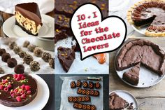 10 + 1 Ideas for the Chocolate Lovers  http://saltandsugar.net/10-1-ideas-for-the-chocolate-lovers/  #chocolate #recipes
