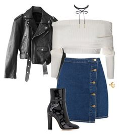 """""""Sans titre #308"""" by ivivsquad ❤ liked on Polyvore featuring Jean-Paul Gaultier, Boohoo, Gianvito Rossi and Alkemie"""