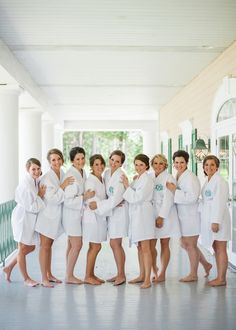 Monogrammed #robes - best bridesmaid gifts ever! {Sweet Julep Photography via @weddingwire}