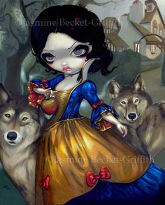 Hey, I found this really awesome Etsy listing at https://www.etsy.com/listing/110201102/loup-garou-blanche-neige-snow-white
