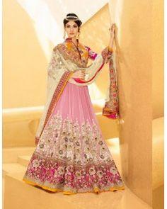 Blush Pink Heavy Embroidered Lehenga