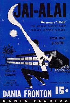 1953 1954 Jai Alai Games Program Dania Fronton Florida Betting Gaming | eBay