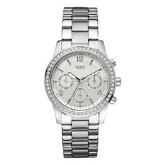 3a03f5a310d Guess Ladies' Mini Spectrum Chronograph Watch In Silver - Beyond the Rack  Big Watches,
