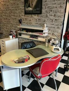 Home nail salon decorating ideas | Nail Technician room ideas | Nail room decor