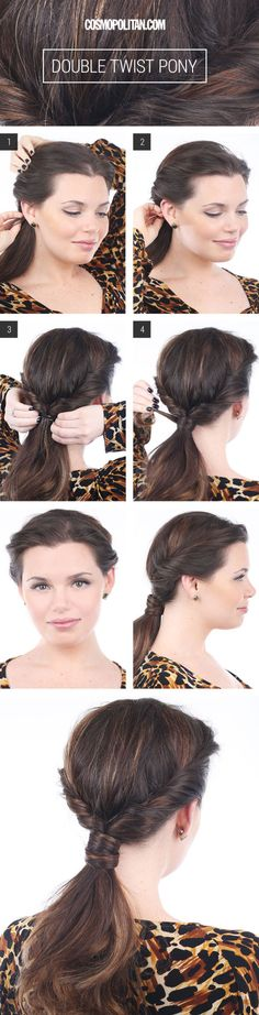 Double Twist Ponytail - Hairstyles For Long Hair