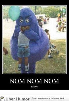 Nom! Grimace got hungry