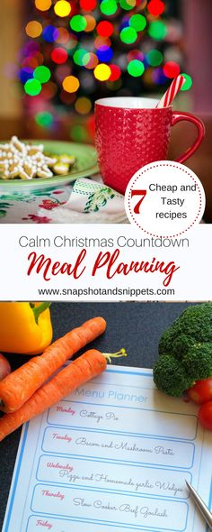 Calm Christmas Countdown Meal Planning - Snapshots and Snippets Holiday Baking, Christmas Baking, Christmas Holidays, Cottage Pie, Menu Planners, Mushroom Pasta, Yummy Food, Tasty, Slow Cooker Beef