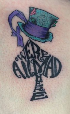all-mad-alice-in-wonderland-tattoo http://yeswelovetattoos.blogspot.co.uk/