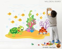 Sea Animals  Wall Decals  Ocean Wall Decals  by WallDecalSource