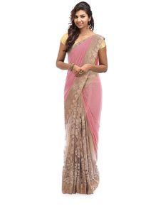 Light peach lycra fancy partly saree Black Net Saree, Simple Sarees, Casual Saree, Light Peach, Prom Dresses, Formal Dresses, Saris, Asian Fashion, Fancy