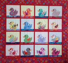 BABY DUCKS QUILT Pattern only by SewColorfulQuilts on Etsy https://www.etsy.com/listing/168195541/baby-ducks-quilt-pattern-only