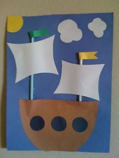 MayFlower Ship - 18 DIY Thanksgiving Crafts for Kids to Make. (hehe, I thought it was a pirate ship at first -- I guess it could be easily modified to be one! Kids Crafts, Easy Preschool Crafts, Boat Crafts, Pirate Crafts, Thanksgiving Crafts For Kids, Daycare Crafts, Crafts For Kids To Make, Preschool Art, Toddler Crafts
