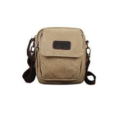 27cbdc19325 Leisure Men Waist Bag Multifunctional Outdoor Single Shoulder Canvas Bag  Light Khaki     Read