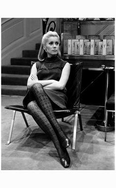 Catherine Deneuve in Home of Yves Saint Laurent, 1966